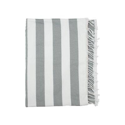 Deck Beach Towel Color: Light Grey / White