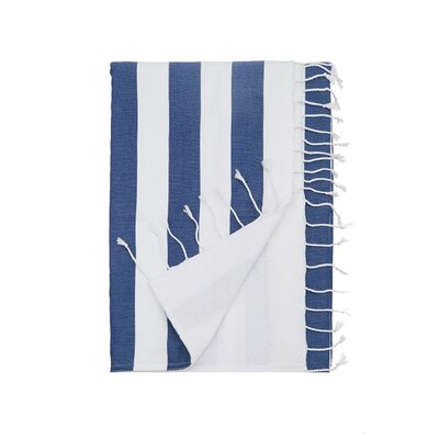 Deck Beach Towel Color: Denim Blue
