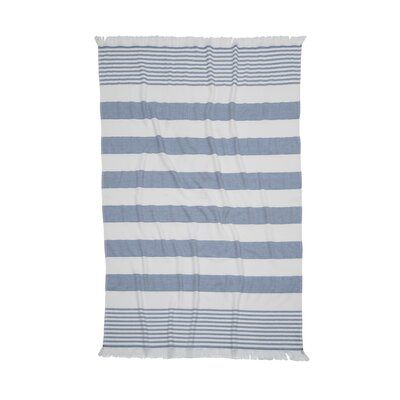 Carmel Stripe Beach Towel Color: Dark Blue