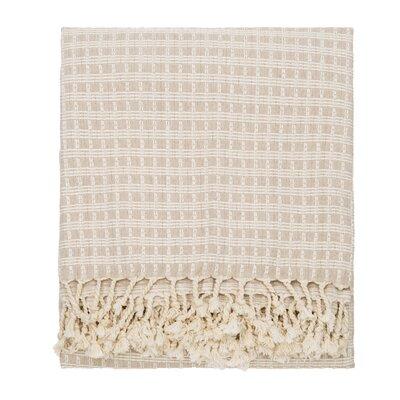 Elli Throw Blanket Color: Beige