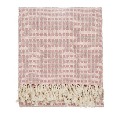 Elli Throw Blanket Color: Pink