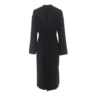 Viscose Rayon from Bamboo Robe Color: Black, Size: Large