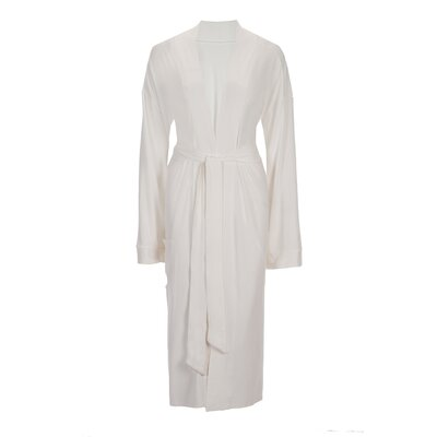 Viscose Rayon from Bamboo Robe Color: Ivory, Size: Small