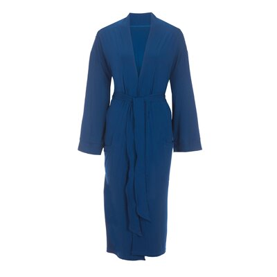 Viscose Rayon from Bamboo Robe Color: Navy, Size: Large