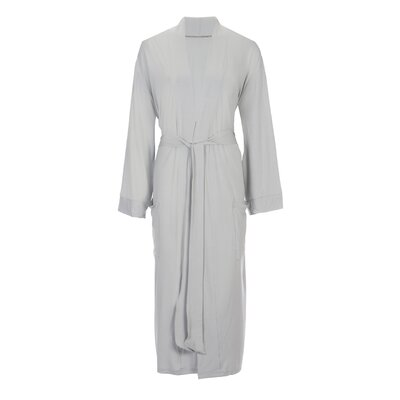 Viscose Rayon from Bamboo Robe Color: Silver, Size: Large