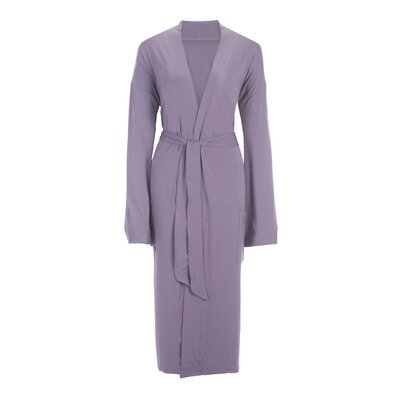 Viscose Rayon from Bamboo Robe Color: Lavender, Size: Large
