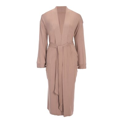 Viscose Rayon from Bamboo Robe Color: Latte, Size: Small
