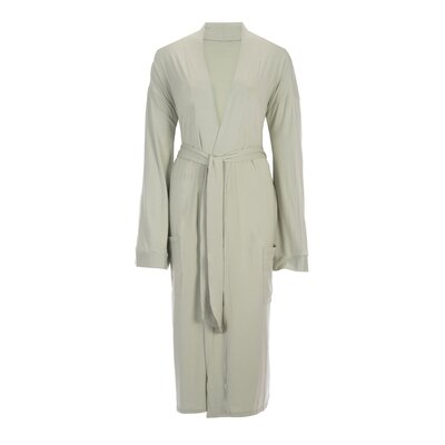 Bamboo Rayon Viscose Robe Color: Tea Green, Size: Large
