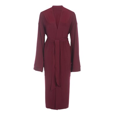 Bamboo Rayon Viscose Robe Color: Maroon, Size: Small