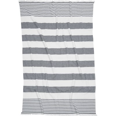 Carmel Stripe Beach Towel Color: Black