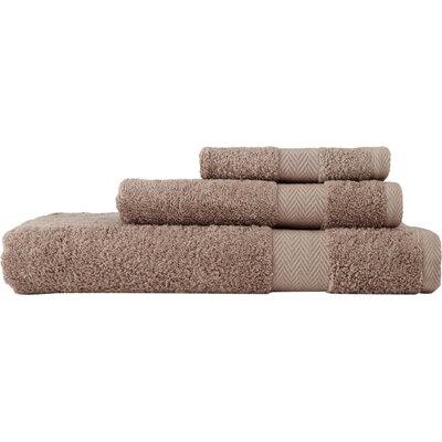 Chevron 3 Piece Towel Set Color: Khaki