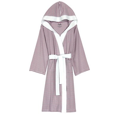 Natural Living Dana Bathrobe Size: Large / Xlarge, Color: Lavender / White