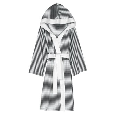 Natural Living Dana Bathrobe Size: Large / Xlarge, Color: Silver / White