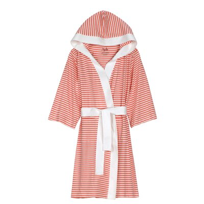 Natural Living Dana Bathrobe Size: Small / Medium, Color: Rose / White