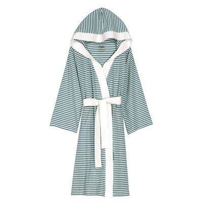Natural Living Dana Bathrobe Size: Small / Medium, Color: Teal / White