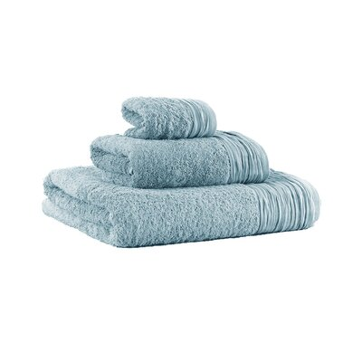 Turkish Cotton Designer 3 Piece Towel Set Color: Light Blue