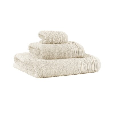Turkish Cotton Designer 3 Piece Towel Set Color: Ivory