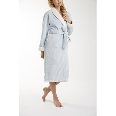 Patrie Sherpa Bathrobe Size: Small, Color: Blue