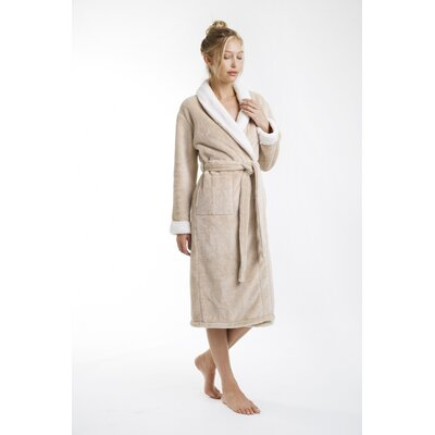 Patrie Sherpa Bathrobe Size: Small, Color: Butter