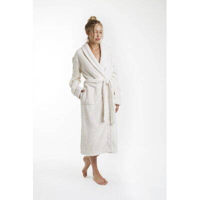 Patrie Sherpa Bathrobe Size: Extra Large, Color: Cream