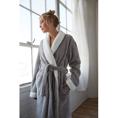 Patrie Sherpa Bathrobe Size: Extra Large, Color: Gray