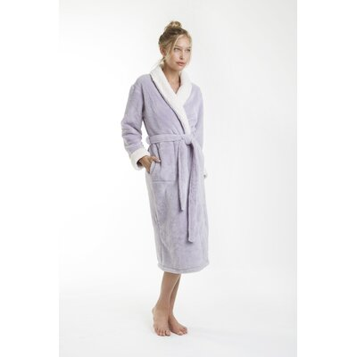 Patrie Sherpa Bathrobe Size: Small, Color: Lavender