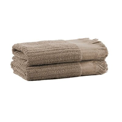 Ribbed Hand Towel Color: Oatmeal