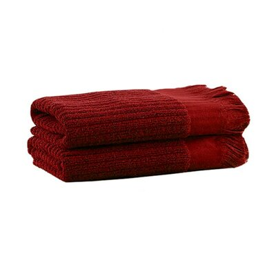 Ribbed Hand Towel Color: Cranberry