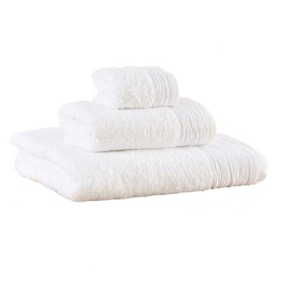 Pleated 3 Piece Towel Set Color: White