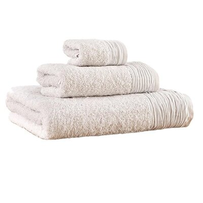 Pleated 3 Piece Towel Set Color: Dusty Rose