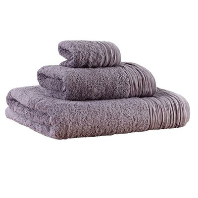 Pleated 3 Piece Towel Set Color: Lavender