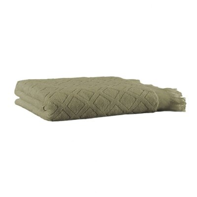 Trellis Bath Sheet Color: Sage