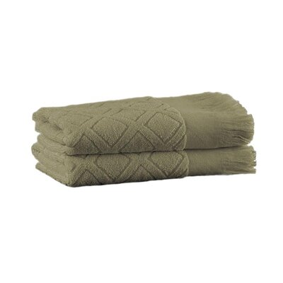 Trellis Hand Towel Color: Sage