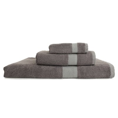 Resort 3 Piece Towel Set Color: Metallic Grey