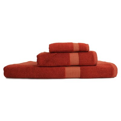 Resort 3 Piece Towel Set Color: Burnt Orange