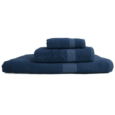 Resort 3 Piece Towel Set Color: Navy