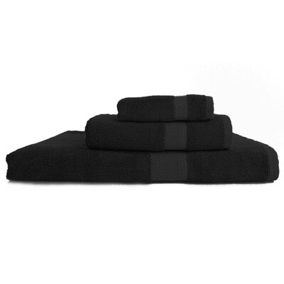 Resort 3 Piece Towel Set Color: Black