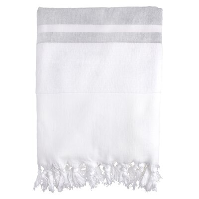 Fouta Soft Terry Bath Towel Color: Gray
