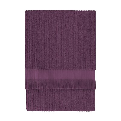Ribbed Bath Sheet Color: Plum