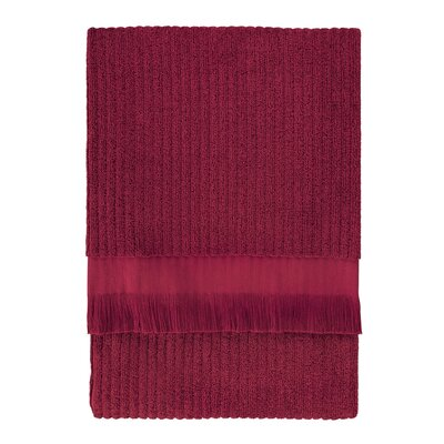 Ribbed Bath Sheet Color: Cranberry