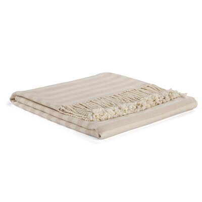 Viscose Rayon from Bamboo Throw Color: Cream