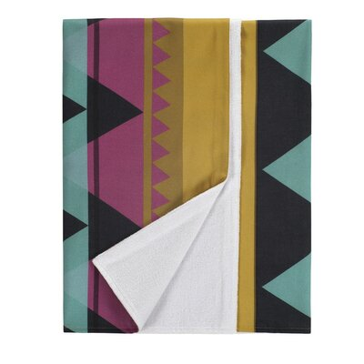 Savanna Cotton Beach Towel Color: Fuchsia/Gold Multicolor
