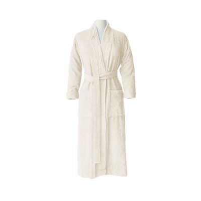 Pleated Bathrobe Size: Small / Medium, Color: Ivory