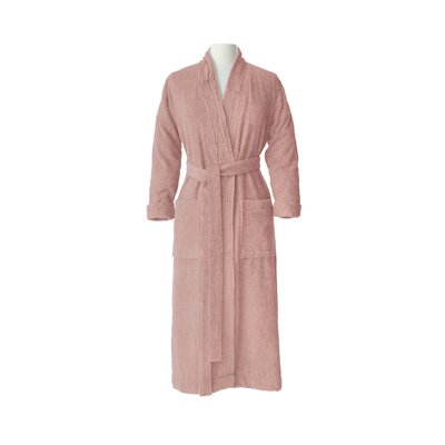 Pleated Bathrobe Size: Large / Extra Large, Color: Dusty Rose