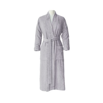 Pleated Bathrobe Size: Small / Medium, Color: Light Grey