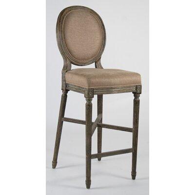 Medallion 29.5 inch Bar Stool Upholstery: Copper