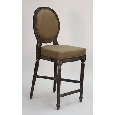 Medallion 25 Bar Stool Upholstery: Copper