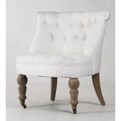 Amelie Slipper Chair Upholstery: White