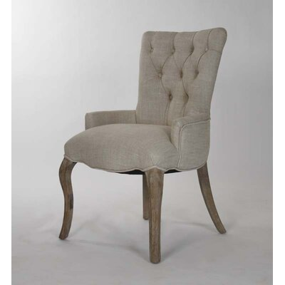 Iris Tufted Armchair Upholstery: Grey