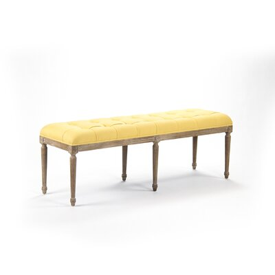 Louis Upholstered Bedroom Bench Color: Yellow